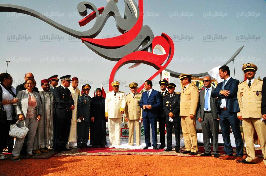 بالصور..والي مراكش يدشن قنطرة على واد اسيل وتحفة ابداعية بالمنطقة السياحية النخيل
