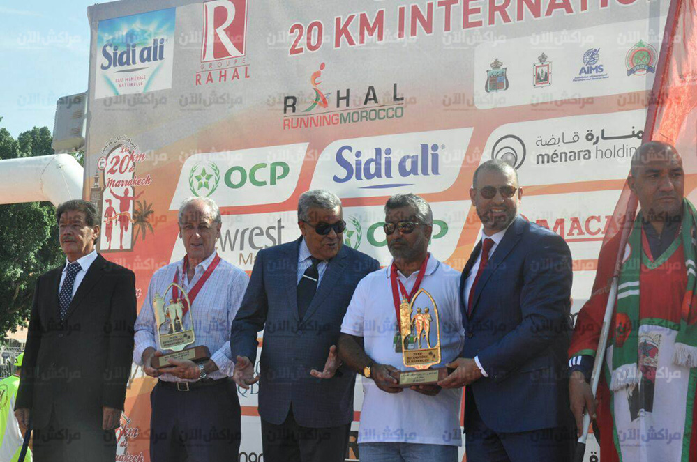 بالصور..البيجيوي والي مراكش يحضر فعاليات سباق 20 كيلومتر الدولي