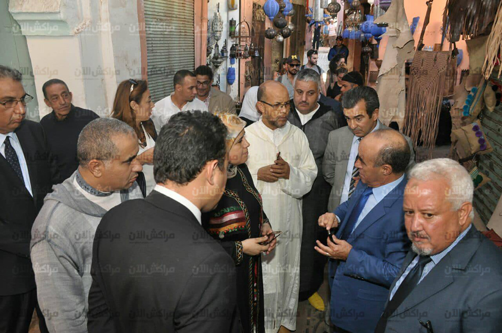 الوزيرة المصلي تزور المسارات السياحية بمقاطعة مراكش العتيقة وتقف على وضعية الصناع التقليديين +صور