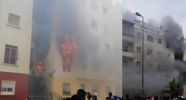 اندلاع حريق مهول داخل شقة سكنية بسلا يتسبب في مصرع طفل