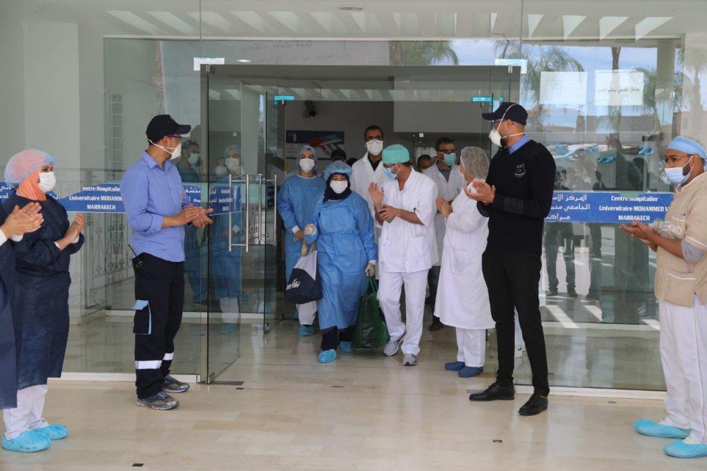 بعد رحلة علاج.. 9 حالات تتعافى من فيروس كورونا ضمنهم سيدة عمرها 82 سنة بمستشفى الرازي بمراكش
