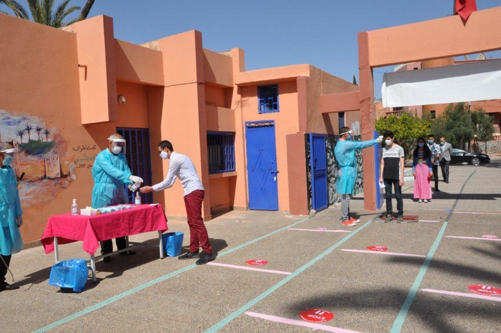 اختبارات البكالوريا تمر في احترام تام للتدابير الوقائية والصحية بعمالة مراكش