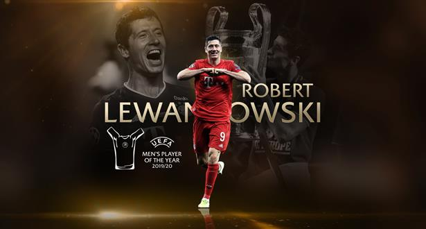 """جوائز """"اليويفا"""".. ليفاندوفسكي يتوج بجائزة أفضل لاعب في أوروبا"""