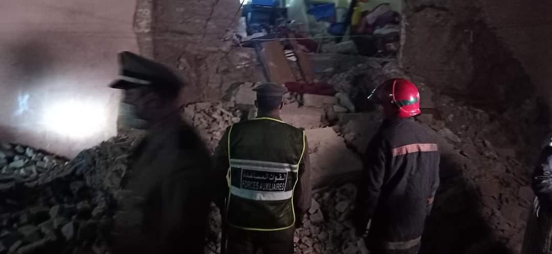 انهيار جزئي لمنزل بحي الملاح يستنفر مسؤولي مراكش +صور