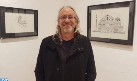 """الفنان الفرنسي لوك لافاندير يعرض أعماله الفنية بفضاء """"دار الصويري"""" بالصويرة"""