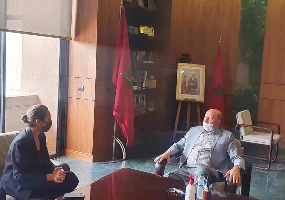 عمدة مراكش يستقبل المديرة الجديدة للوكالة المستقلة لتوزيع الماء والكهرباء