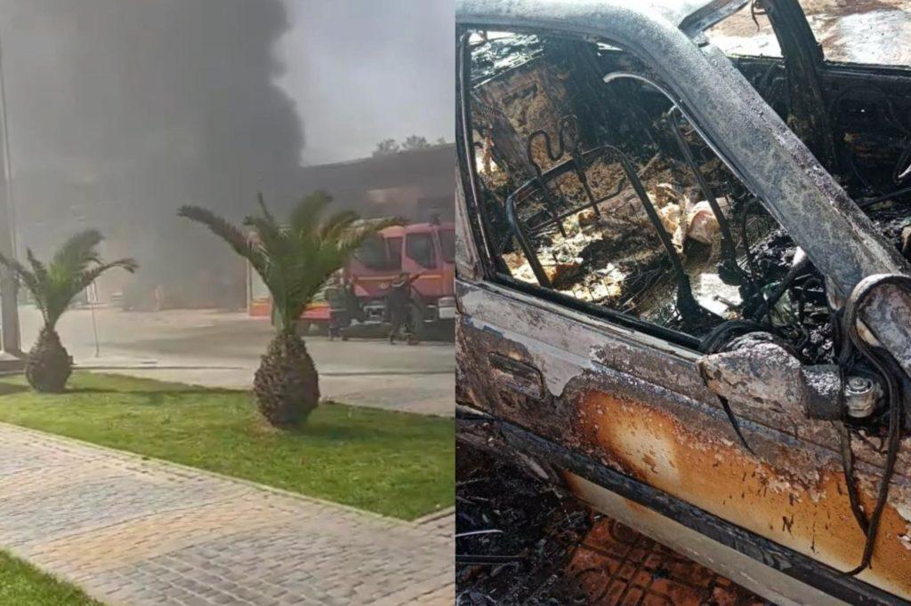 بالفيديو.. حريق مهول يأتي على سيارة بمدخل الحي الصناعي لقلعة السراغنة