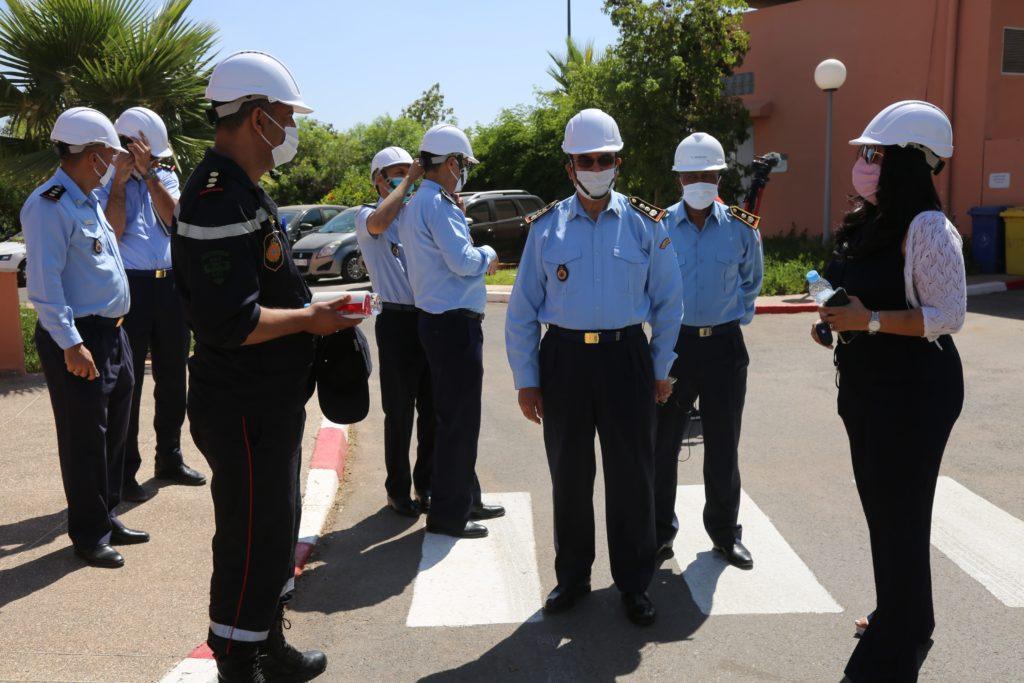 القيادة الجهوية للوقاية المدنية في زيارة ميدانية لمحطة معالجة المياه العادمة التابعة للوكالة المستقلة لتوزيع الماء والكهرباء بمراكش + صور