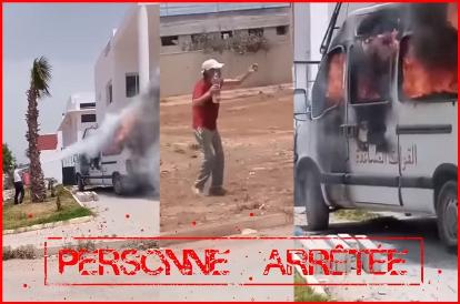 اعتقال خمسيني أضرم النار في سيارة القوات المساعدة بسلا