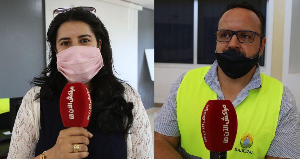 """القيادة الجهوية للوقاية المدنية تزور محطة معالجة المياه العادمة للوكالة المستقلة لتوزيع الماء والكهرباء بمراكش """"راديما""""+فيديو"""