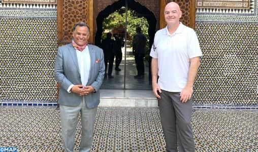 رئيس الفيفا يزور متحف دار الباشا بمراكش