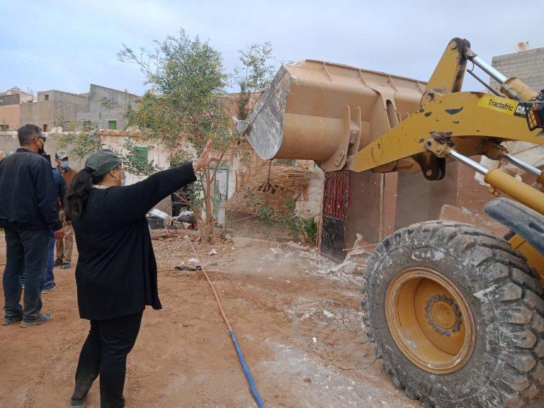 السلطة المحلية لمراكش تحارب البناء العشوائي بحي الفخارة