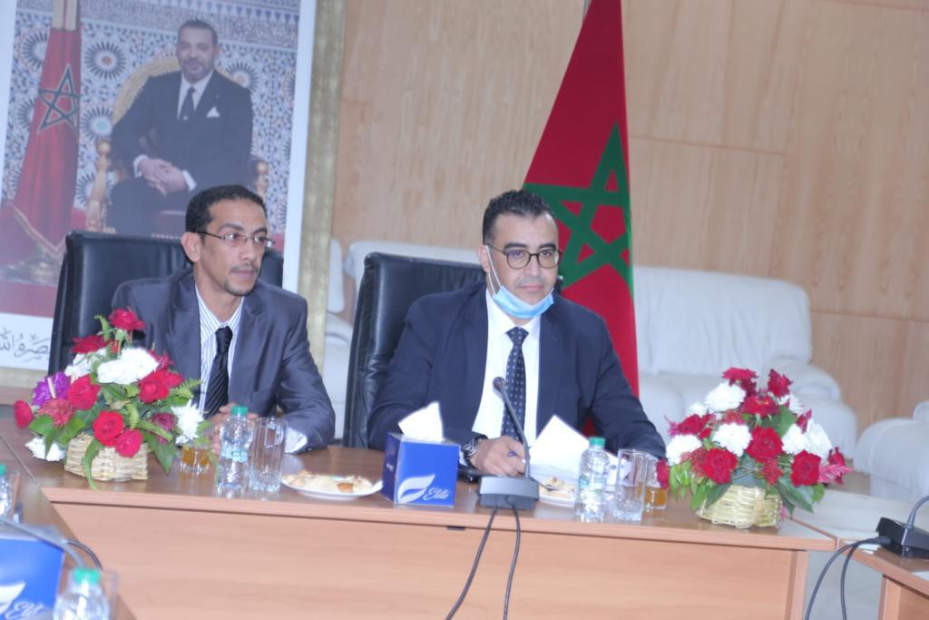 انتخاب الحسين عليوى رئيس غرفة التجارة والصناعة بواد نون رئيسا لجامعة الغرف المغربية للتجارة والصناعة والخدمات +صور